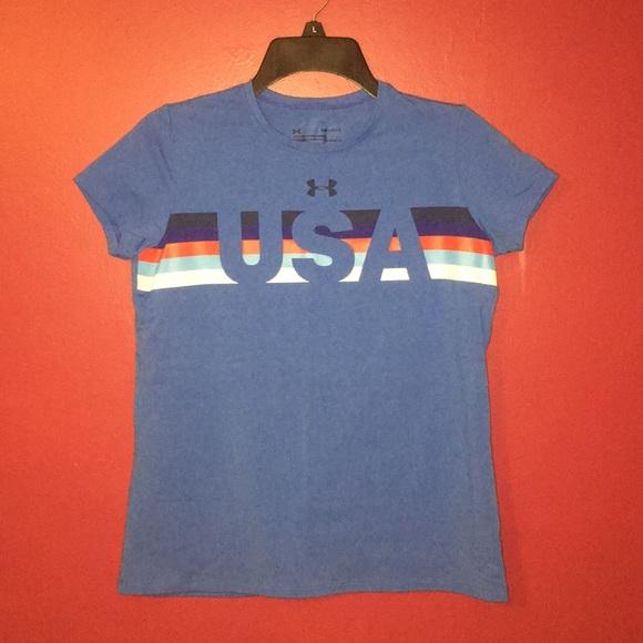 1026b9261d 🛍50% OFF CLEARANCE Girls' USA Under Armour Shirt